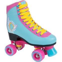 Hudora Skate Wonders Roller Skates Disco Roller Rollschuhe rosa-hellblau