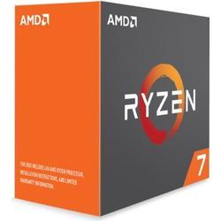 AMD Ryzen 7 1700X (16MB Cache, 3,40 GHz Turbo 3,80 GHz) Boxed ohne Kühler - Sockel AM4