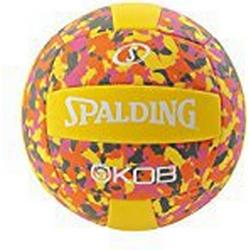 Spalding Beachvolleyball Kob (72/355Z) Volleyball, Gelb/Rosa, 5.0
