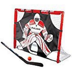 Bauer Uni Street Goal Set 48 Zoll Hockeytor, Rot, M