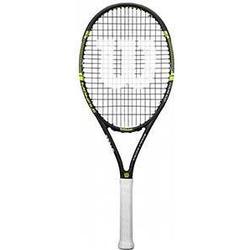 Wilson Damen/Herren/Tennisschläger, All Courter, Anfänger und Fortgeschrittene, Monfils Tour 100, Größe 3, schwarz/grün, WRT57600U3