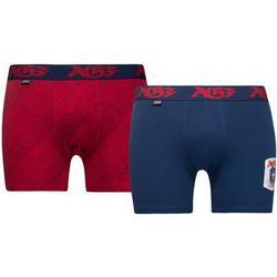 JBS Boxershorts 2-Pack AGF - Blau/Rot Kinder