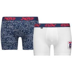 JBS Boxershorts 2-Pack AGF - Blau/Weiß