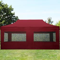 Faltpavillon 3x6m dunkelrot Klappzelt, Partyzelt, Gartenzelt, Faltzelt