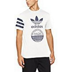 adidas Herren Street Graphic Kurzarm T/Shirt, Off White, S