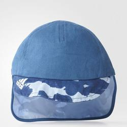 adidas Kinder Fitted Cap Neck Flap in blau