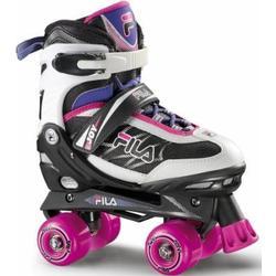 Fila Mädchen Roller/Skates Joy Verstellbar Rollschuhe, Schwarz/Pink, S (31/34)