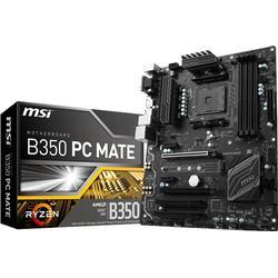 mb msi b350 pc mate (b350,am4,atx,ddr4,vga,amd)