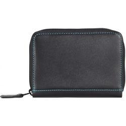 mywalit Zip Around Kreditkartenetui Leder 10 cm black/pace