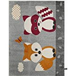 benuta Kinderteppich Best Friends Orange 140x200 cm | Teppich für Spiel/ und Kinderzimmer