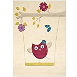 benuta Kinderteppich Die kleine Eule Pink 80x150 cm | Teppich für Spiel/ und Kinderzimmer