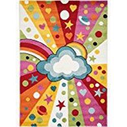 benuta Kinderteppich Noa Universe Multicolor 140x200 cm | Teppich für Spiel/ und Kinderzimmer