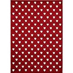 benuta Teppich Noa Love Rot 120x170 cm | Moderner Teppich für Wohn/ und Schlafzimmer