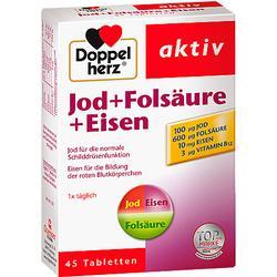 DOPPELHERZ Jod+Folsäure+Eisen Tabletten 45 St