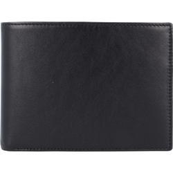 Esquire Premium Geldbörse Leder 12 cm schwarz