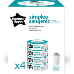 Tommee Tippee Simplee Sangenic 4er-Pack Nachfüllkassetten