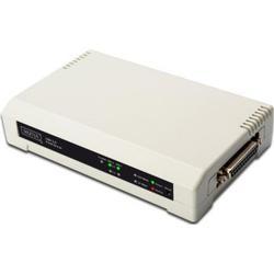 DIGITUS USB & Parallel Print Server 3-Port (1x RJ45, 2x USB A 1x DB-36-pin)