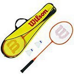 Wilson Badminton/Set, Schläger, Bälle, Tasche, Damen/Herren, WRT8755003, Gelb/Orange