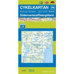 Nordstedts Cykelkartan Blad 22 Södermanland/Östergötland