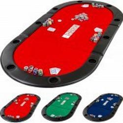 Pokerauflage Pokertisch klappbar faltbar, Farbe rot
