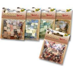 Mosaiksteine, 5x5mm, 700 Stück, Kunstharz, Marmor Mix
