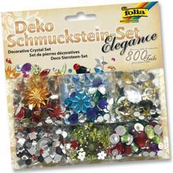 Folia Deko Schmucksteine aus Acryl, Elegance, mehrfarbig, 800-teilig (1 Set)