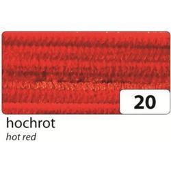 folia 77820 Chenilledraht Pfeifenputzer Ø 8mm, 50cm lang, hochrot (10er Pack)