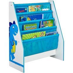 Worlds Apart 470DIE Dinosaurier Regal für Kinderbücher, holz, 23 x 51 x 60 cm, blau