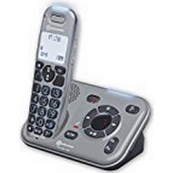 amplicomms PowerTel 1780, Schnurloses Großtastentelefon mit integriertem Anrufbeantworter, Hörgerätkompatibel in HD Sound