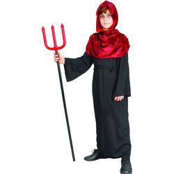 D�mon Halloween-Kinderkost�m Teufel rot-schwarz