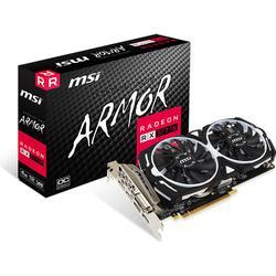 MSI AMD Radeon RX 570 Armor 4G OC 4GB Grafikkarte GDDR5 2x DVI/HDMI/2x DP