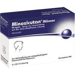MINOXICUTAN Männer 50 mg/ml Spray 3X60 ml
