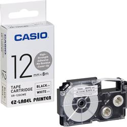 CASIO Beschriftungsband XR-12GCWE schwarz auf weiß 12 mm