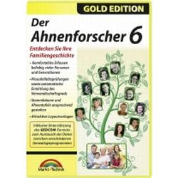 Markt & Technik Der Ahnenforscher 6 Vollversion, 1 Lizenz Windows Nachschlagewerke