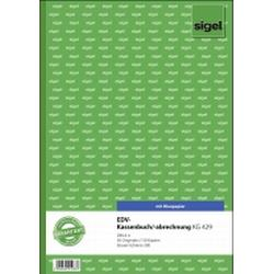 Sigel EDV-Kassenbuch, Steuerschiene 300, 1. und 2. Blatt bedruckt, A4, mit Blaupapier, 2 x 50 Blatt
