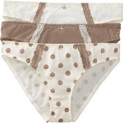 Slip (3er-Pack) Bio-Baumwolle in beige für Damen von bonprix