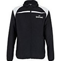 Spalding Herren Jacket Jacke, Schwarz/Silber Grau, XL