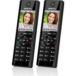 Schnurloses Telefon VoIP AVM FRITZ!Fon C5 Duo Set Babyphone, Freisprechen, Headsetanschluss Farbdisplay Schwarz