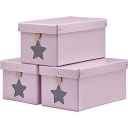 Kids Concept Pink Shoe/Toy Boxes 3-Pieces