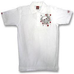 Argyl Diamond and Skull Polo Shirt Gr. M