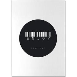 Barcode Enjoy Circle Black Notizblock
