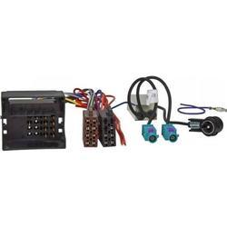 Radio-Adapterkabel VW,SKODA MOST/Quadlock auf ISO + Phantomeinspeisung Doppel Fakra ISO ,
