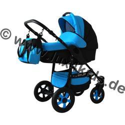 Future Kinderwagen Komplettset (Autositz & Adapter, Regenschutz, Moskitonetz, Schwenkräder) 03 Hellgrün & Schwarz