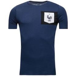 Frankreich T-Shirt Crest - Navy/Weiß Kinder