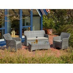 Destiny Loungegruppe Bari II Loungeset Sofaset Tischgruppe Gartenmöbelset Sitzgruppe