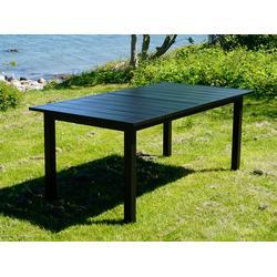 Erweiterbarer Gartentisch Key West, 180/240x95x76cm, schwarz