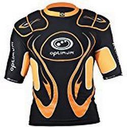 Optimum Herren/ Schutzkleidung Inferno mit Schulterpolster, Herren, Inferno, schwarz/orange, M