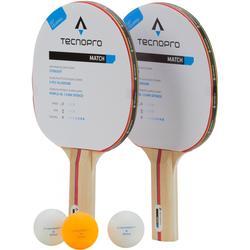 TecnoPro Match DX Tischtennisschlägerset (Farbe: 900 schwarz/rot)