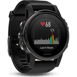 Garmin fenix 5S Sapphire GPS Multisport Smartwatch - schwarz / Armband schwarz 010-01685-11