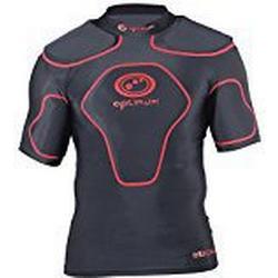 Optimum Jungen Schutzkleidung Origin mit Schulterpolster schwarz schwarz/red S